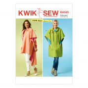 Kwik Sew Ladies Easy Sewing Pattern 4043 Fashion Ponchos