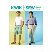 Kwik Sew Mens Sewing Pattern 4045 Shorts & Trouser Pants