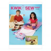 Kwik Sew Childrens Sewing Pattern 4047 Animal Shape Sleeping Bags