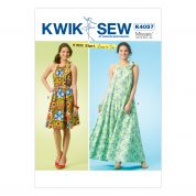 Kwik Sew Ladies Easy Learn to Sew Sewing Pattern 4057 Summer Dresses