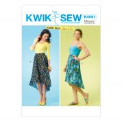 Kwik Sew Ladies Easy Learn to Sew Sewing Pattern 4061 Pretty Skirts