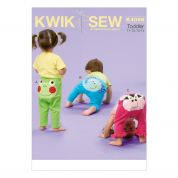 Kwik Sew Toddlers Sew Sweet Chic Easy Sewing Pattern 4066 Leggings with Applique