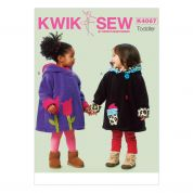 Kwik Sew Toddlers Sewing Pattern 4067 Coats with Applique