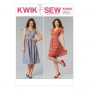 Kwik Sew Ladies Sewing Pattern 4068 V Neck Gathered Dresses