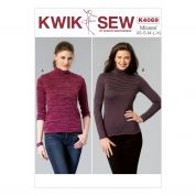 Kwik Sew Ladies Easy Sewing Pattern 4069 Knit Sweater Tops
