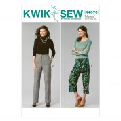 Kwik Sew Ladies Sewing Pattern 4070 Cropped & Full Length Pants