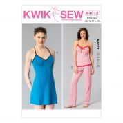 Kwik Sew Ladies Sewing Pattern 4072 Pyjamas Camisole, Chemise & Pants