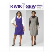 Kwik Sew Ladies Sewing Pattern 4073 Pinafore Dresses
