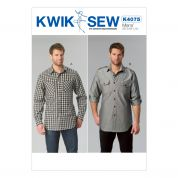 Kwik Sew Mens Sewing Pattern 4075 Long Sleeve Smart Shirts