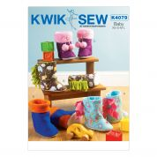 Kwik Sew Toddler's Easy Sewing Pattern 4079 Slipper Boots