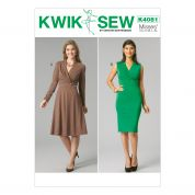 Kwik Sew Ladies Sewing Pattern 4081 Pullover Knitted Dresses