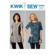 Kwik Sew Ladies Sewing Pattern 4083 Peplum Ruffle Tops