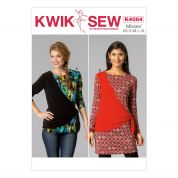 Kwik Sew Ladies Easy Sewing Pattern 4084 Pullover Tops with Contrast Overlay