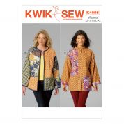 Kwik Sew Ladies Sewing Pattern 4086 Patchwork Jackets