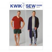 Kwik Sew Mens Easy Sewing Pattern 4088 Dressing Gown & Pyjamas