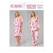 Kwik Sew Ladies Easy Sewing Pattern 4089 Pyjamas & Nightdress