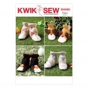 Kwik Sew Childrens Easy Sewing Pattern 4090 Novelty Slipper Boots