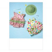 Kwik Sew Baby Sewing Pattern 4094 Frilly Rompers & Hat