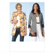 Kwik Sew Ladies Sewing Pattern 4104 Lined Edge to Edge Jackets