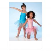 Kwik Sew Girls Easy Sewing Pattern 4108 Leotards with Ballet Tutu's