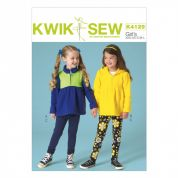 Kwik Sew Girls Easy Sewing Pattern 4129 Stretch Knit Tops & Leggings