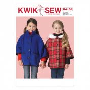 Kwik Sew Girls Sewing Pattern 4130 Unlined Loose Fit Jackets