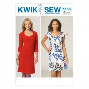 Kwik Sew Ladies Sewing Pattern 4132 Close Fit Bodice Dresses