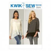 Kwik Sew Ladies Easy Sewing Pattern 4134 Stretch Knit Tops with Ruffles