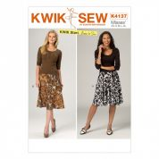 Kwik Sew Ladies Easy Learn to Sew Sewing Pattern 4137 Elastic Waist Skirts