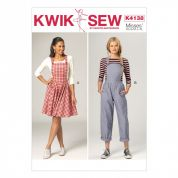 Kwik Sew Ladies Sewing Pattern 4138 Pinafore Dress & Dungarees