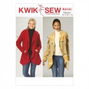 Kwik Sew Ladies Sewing Pattern 4141 Unlined Jackets with Hood or Collar