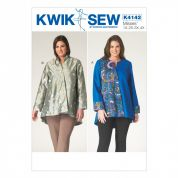 Kwik Sew Ladies Plus Size Sewing Pattern 4142 Unlined Jackets with Button Closure