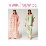 Kwik Sew Ladies Plus Size Easy Sewing Pattern 4145 Pyjamas & Nightgown