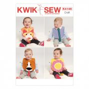 Kwik Sew Baby Easy Sewing Pattern 4148 Fun Novelty Bibs