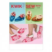 Kwik Sew Adults & Childrens Easy Sewing Pattern 4151 Plain & Novelty Slippers