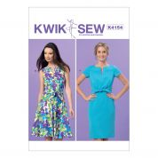 Kwik Sew Ladies Sewing Pattern 4154 Tie Front Dresses
