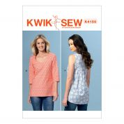 Kwik Sew Ladies Easy Sewing Pattern 4159 Gathered Back Tops