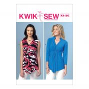 Kwik Sew Ladies Easy Sewing Pattern 4160 Gathered Front Tops