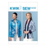 Kwik Sew Ladies Easy Sewing Pattern 4162 Open Front Banded Jackets
