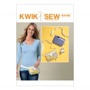 Kwik Sew Ladies Easy Sewing Pattern 4165 Zip Closure Belly Bum Bags