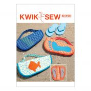 Kwik Sew Accessories Easy Sewing Pattern 4166 Appliqued Flip Flop Cases