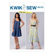 Kwik Sew Ladies Easy Learn to Sew Sewing Pattern 4172 Scoop Neckline Dresses