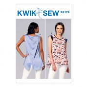 Kwik Sew Ladies Easy Sewing Pattern 4175 Tops with Overlapped Back Detail