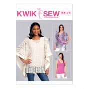 Kwik Sew Ladies Easy Sewing Pattern 4176 Ponchos & Top