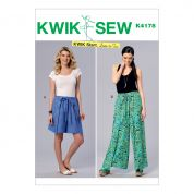Kwik Sew Ladies Easy Learn to Sew Sewing Pattern 4178 Shorts & Pants