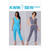 Kwik Sew Ladies Sewing Pattern 4180 Jumpsuits & Sash