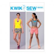 Kwik Sew Ladies Easy Sewing Pattern 4181 Tops & Shorts Sportswear