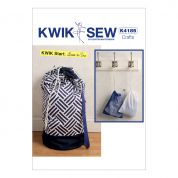 Kwik Sew Crafts Easy Learn to Sew Sewing Pattern 4185 Laundry & Drawstring Bags