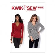 Kwik Sew Ladies Easy Sewing Pattern 4188 Front Crossover Jersey Knit Tops