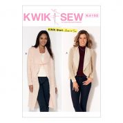 Kwik Sew Ladies Easy Learn to Sew Sewing Pattern 4192 Shawl Collar Cardigans